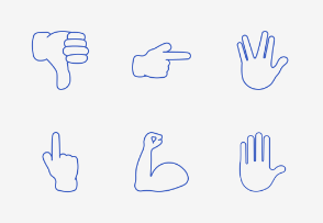 Smileys & People - Hand Gestures - Add On