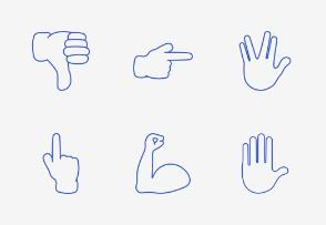 Smileys & People - Hand Gestures - Add On