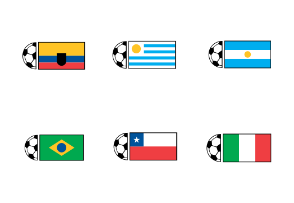 Soccer Ball & Country Flags