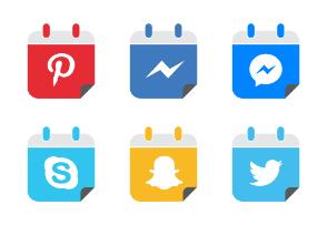 Social Media Icons Calendar