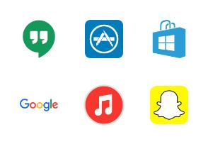 Social Media & Logos II Flat Colorful