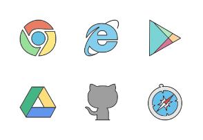 Social Media & Logos II Filled Line