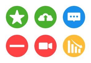 Social & Messaging UI - Color Shapes
