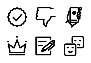 Social Network Signs - Thick True Line - Black-and-White