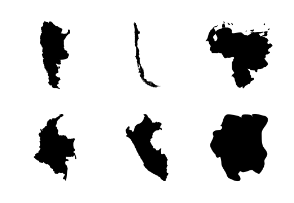 South America Countries Maps