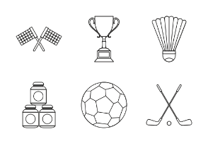 Sport equipment - outline