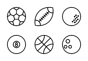 Sports Ball - outline