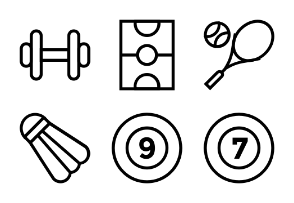 Sports Vector Line Icons 1