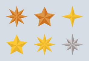 Stars - Pointed