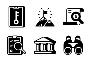 Startup and New Business Glyph