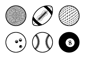 Stroke Ball Icons