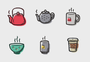 Tea and coffee colored