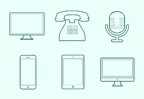 Technology Line Icons
