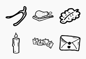 Thanksgiving - Hand Drawn Icons