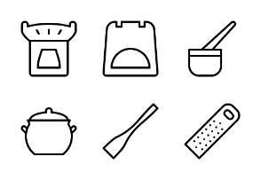 Traditional Kitchenware (Outline)