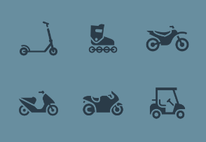 Transport 04 - Set of Motorcycles and Bicycles icons