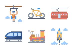 Transportation Flaticons