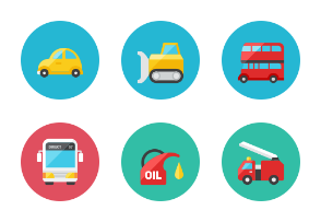 Transportation Icons - Rounded