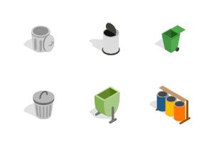 Trash bin - Isometric