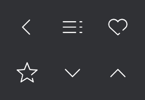 Universal icons set for web and mobile