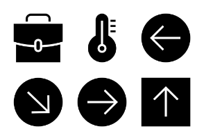Universal Mobile Solid Icons Vol 7