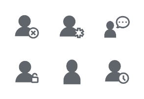 User Fill icons set
