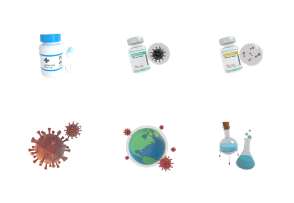 Vaccination 3D - Medication for health