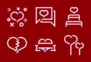 Valentine Day icon set 1