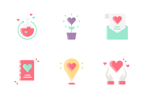 Valentine Without Outline Iconset