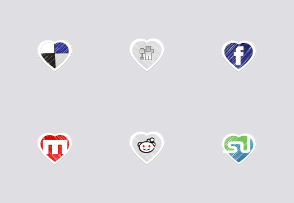 Valentines Special: Social Bookmark Icon Set
