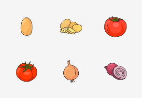Vegetable - Colored