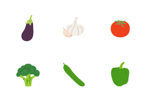 Vegetables in colour