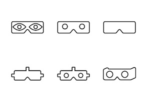 Virtual reality - Outline bold