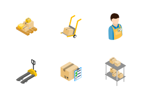 Warehouse logistic storage - isometric