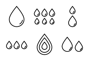 Water/blood drops