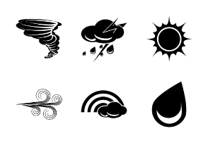 Weather Glyphs Black