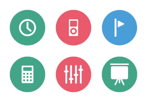 Web and Mobile Colored Icons Vol 3