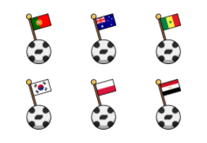 World Cup 2018 Teams - Ball Flag