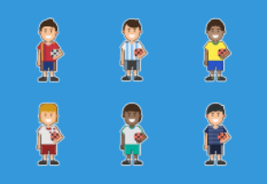 World Cup 2018 Teams - Soccer Players Stickers