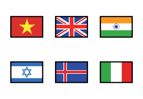 WORLD FLAGS - Flat