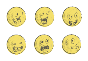 Yellow Paper Emoticons