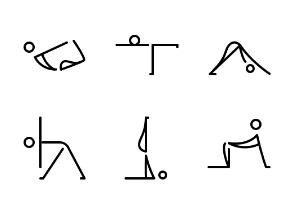 Yoga - True Line - Black-and-White