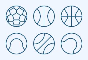 Sport Balls (outline)