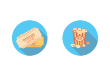 movie icons in circle