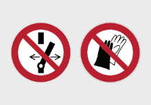 ISO 7010 Prohibition Safety Circle Signs